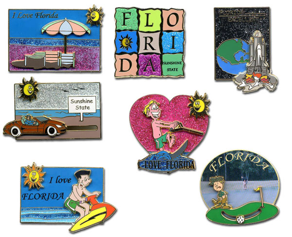 Florida .US State Stock Lapel Pins