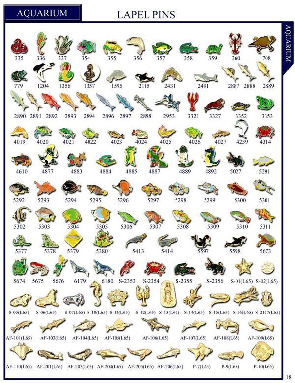 Stock Animals Lapel Pins