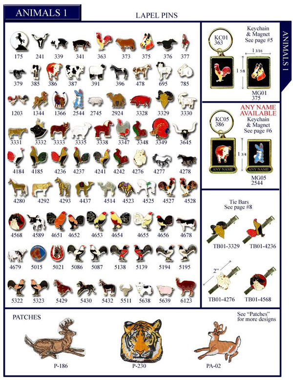 Animals Farm Stock Lapel Pins