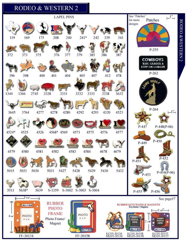 Animals Rodeo Bulls Stock Lapel Pins, Keychain