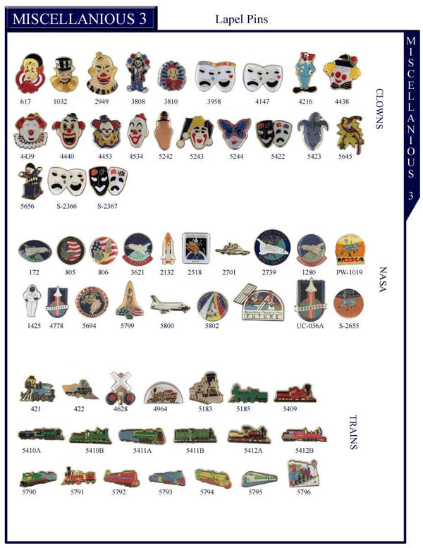 Clowns Stock Lapel Pins