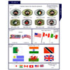 Flags of the World Stock Lapel Pins. Polyester Flags.
