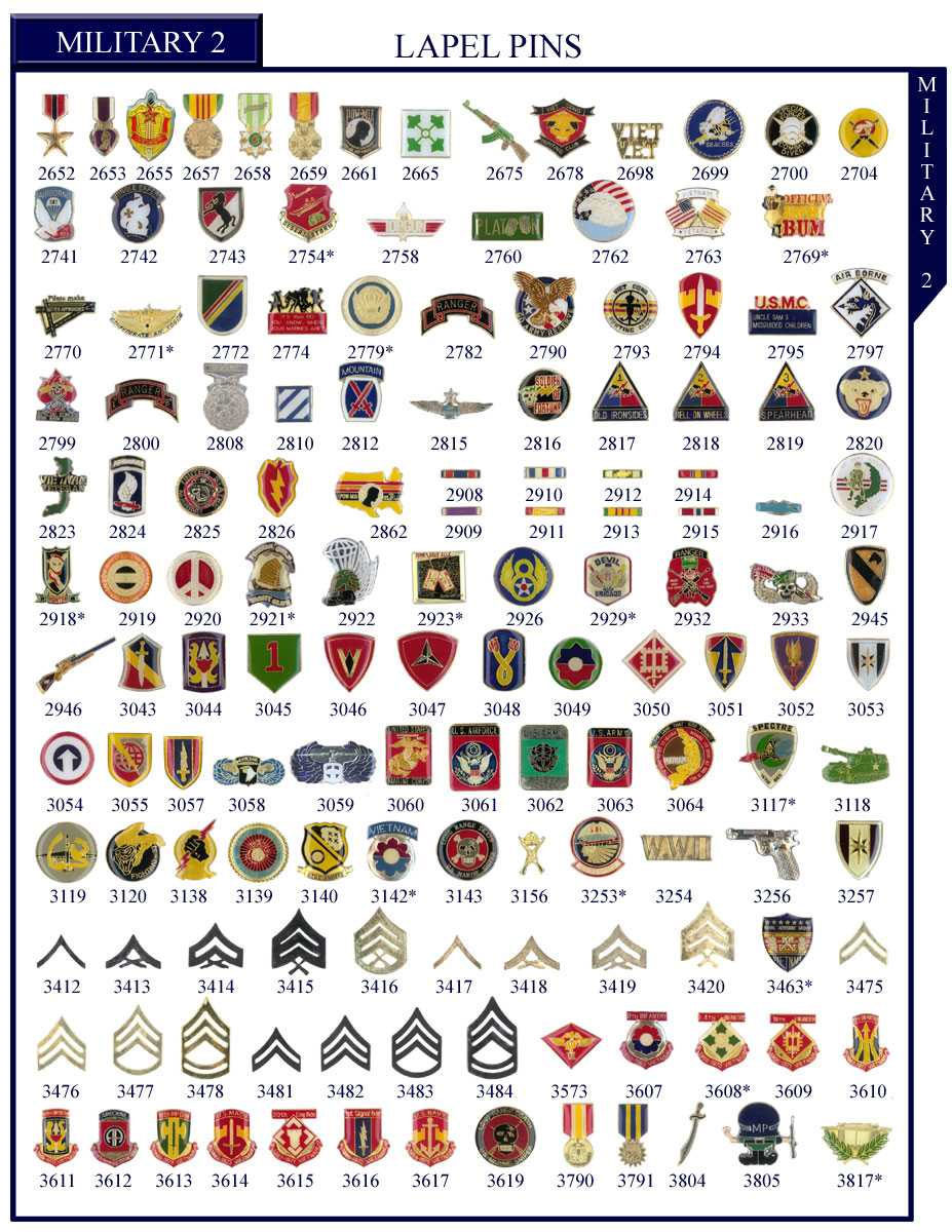 Stock Military Badges and Military Stock Lapel Pins