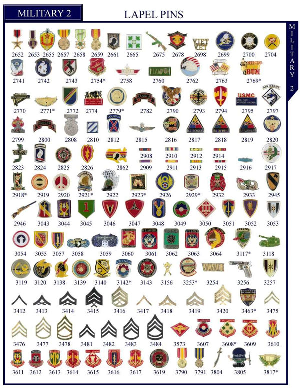 Law Enforcement, Military, Air Force Stock Lapel Pins