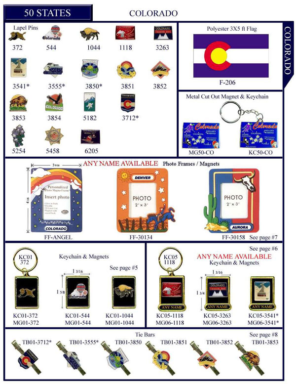 Colorado .US State Stock Lapel Pins