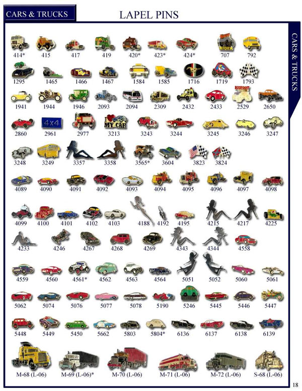 Cars Stock Lapel  Pins